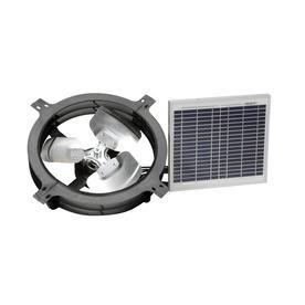 Air Vent 800-CFM Weatherwood Galvanized Steel Solar Power