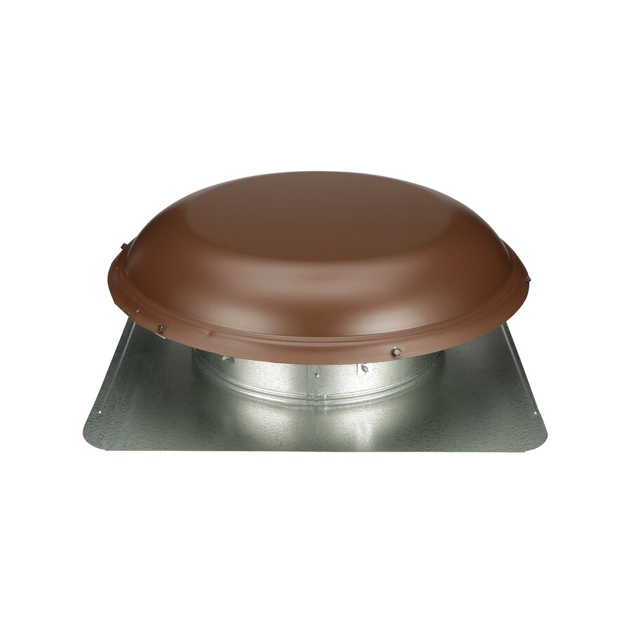 Shop Air Vent Brown Galvanized Steel Round Roof Louver At