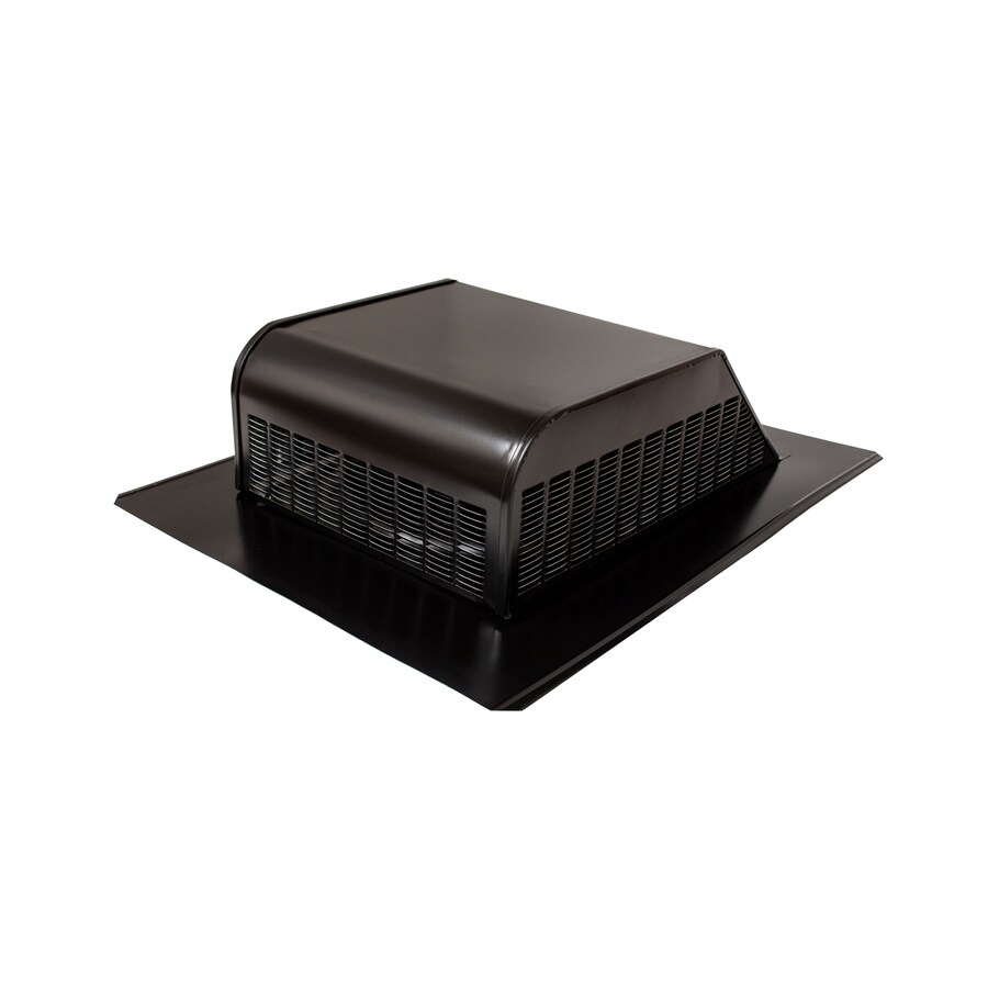 Air Vent Black Galvanized Steel Slant Back Roof Louver At