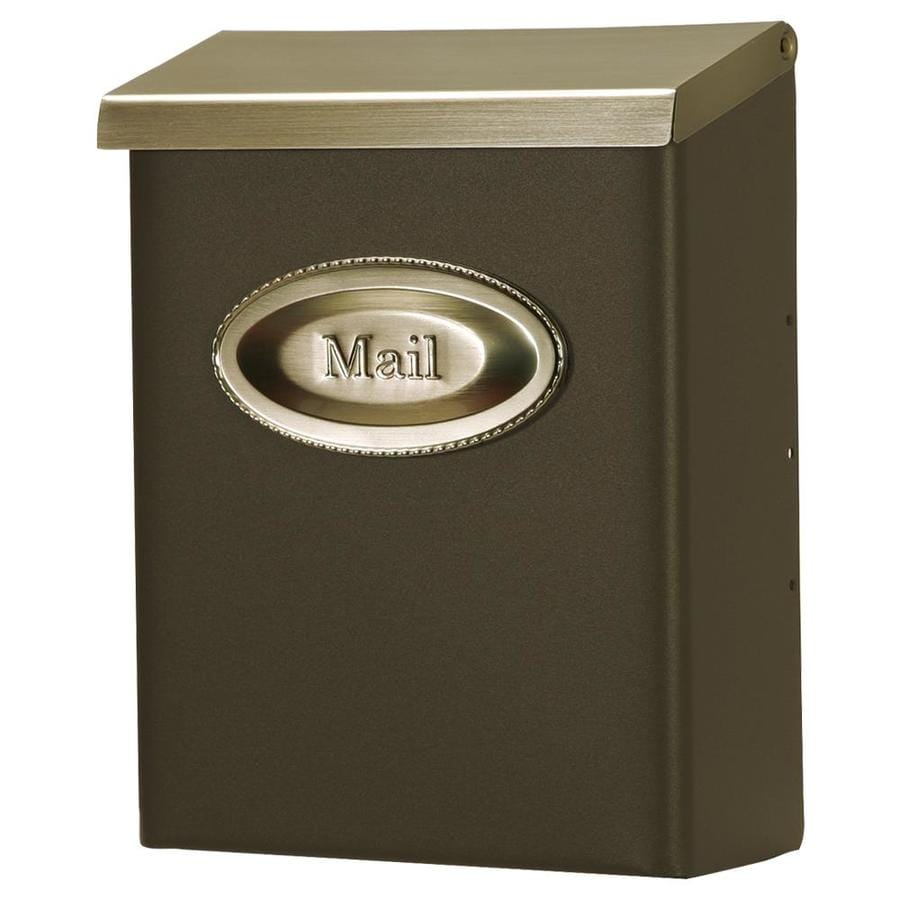 Gibraltar Mailbo Designer 9 7 In W X 12 6 H Metal Bronze Satin Nickel Lockable Wall Mount Mailbox