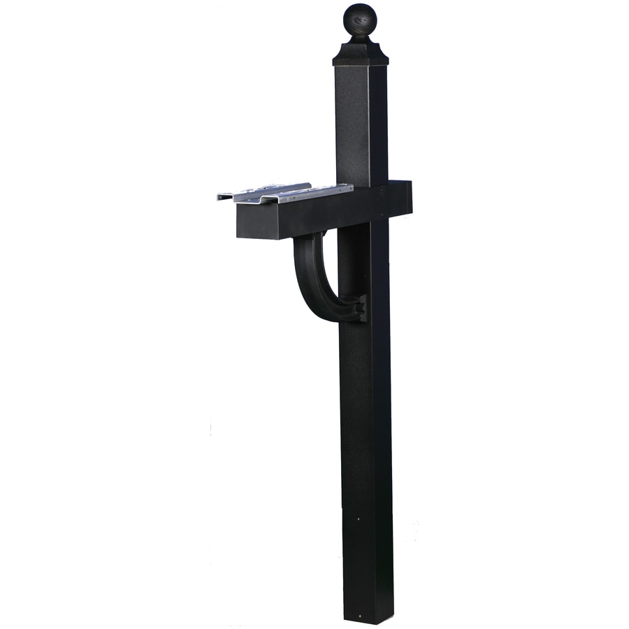 Shop PostMaster Black Aluminum Mailbox Post At Lowes