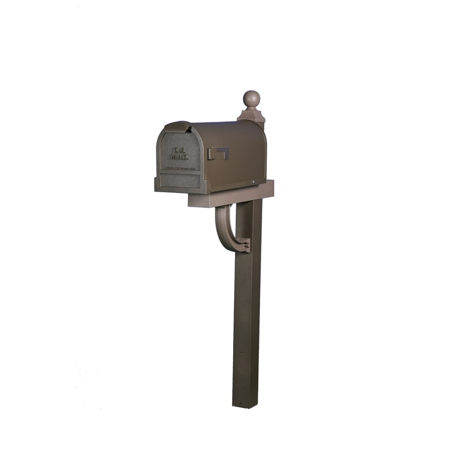 Bronze Mailbox With Post Part - 29: The Solar Group Bronze Aluminum Mailbox Post
