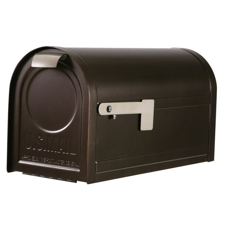 First Class 9.3-in x 11.3-in Metal Venetian Bronze Post Mount Mailbox