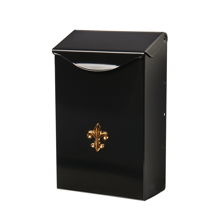PostMaster 6.25-in x 9.75-in Metal Black Wall Mount Mailbox