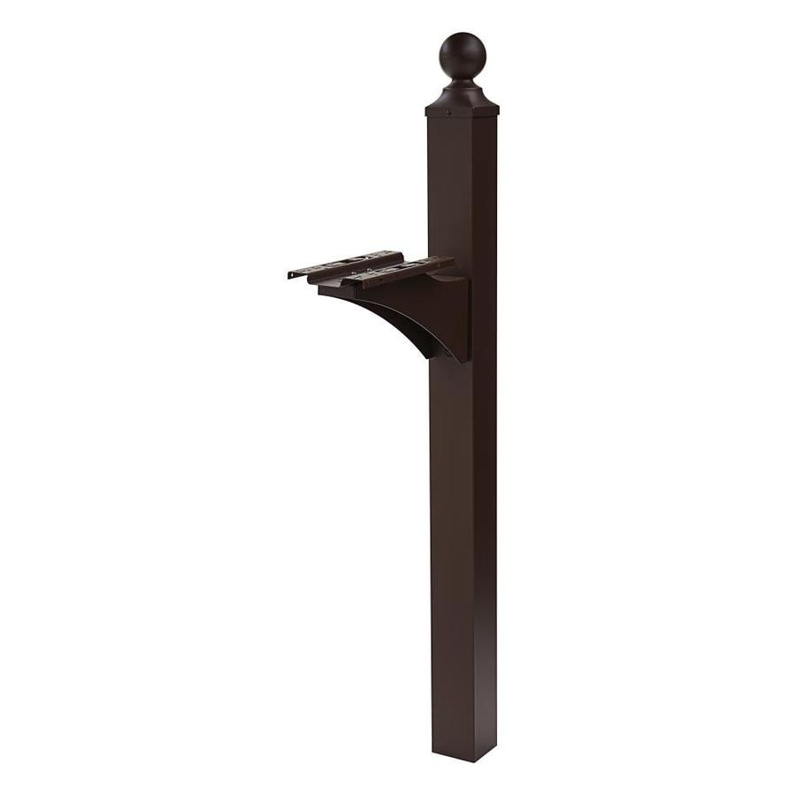 wood mailbox posts. Gibraltar Mailboxes Landover Venetian Bronze Mailbox Post Wood Posts