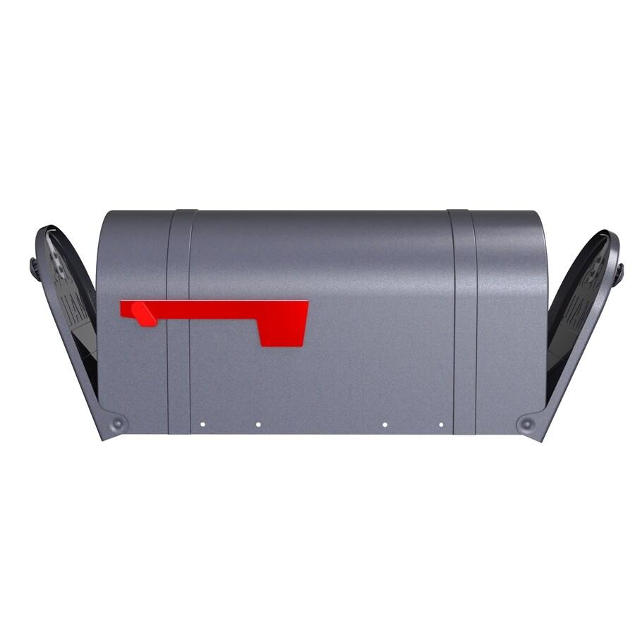 Postmaster Mailbox Post: PostMaster Classic 8.875-in X 11.125-in Metal Gunmetal