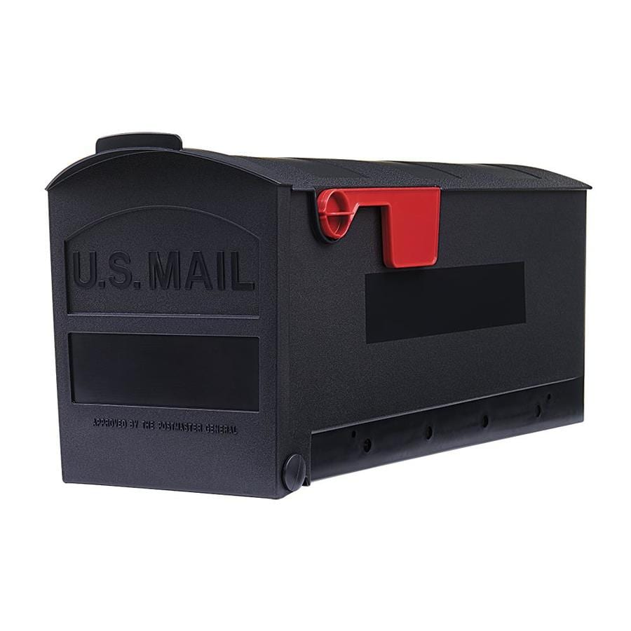 Gibraltar Industries 7.95-in x 9.78-in Plastic Black Post Mount Mailbox