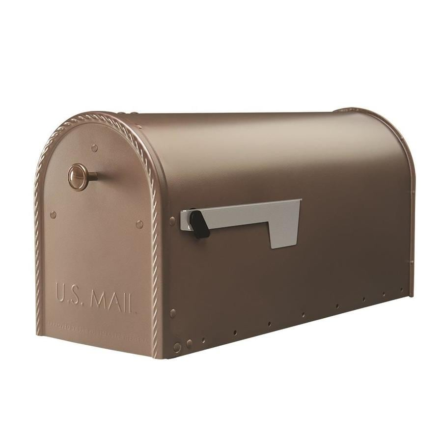 Gibraltar Mailbo Edwards 8 7 In W X 10 9 H Metal Venetian Bronze Post Mount Mailbox