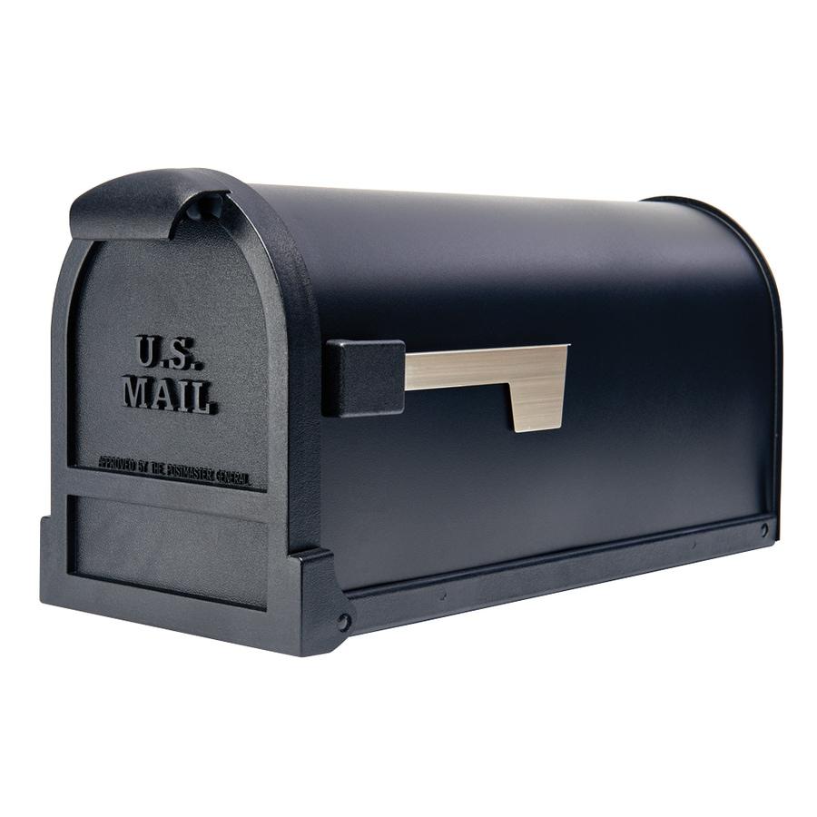 Gibraltar Industries 9.75-in x 11-in Metal Black Post Mount Mailbox