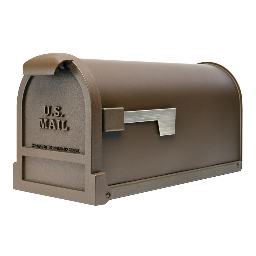 Gibraltar Industries Estate 9.8-in x 11-in Metal Bronze Post Mount Mailbox