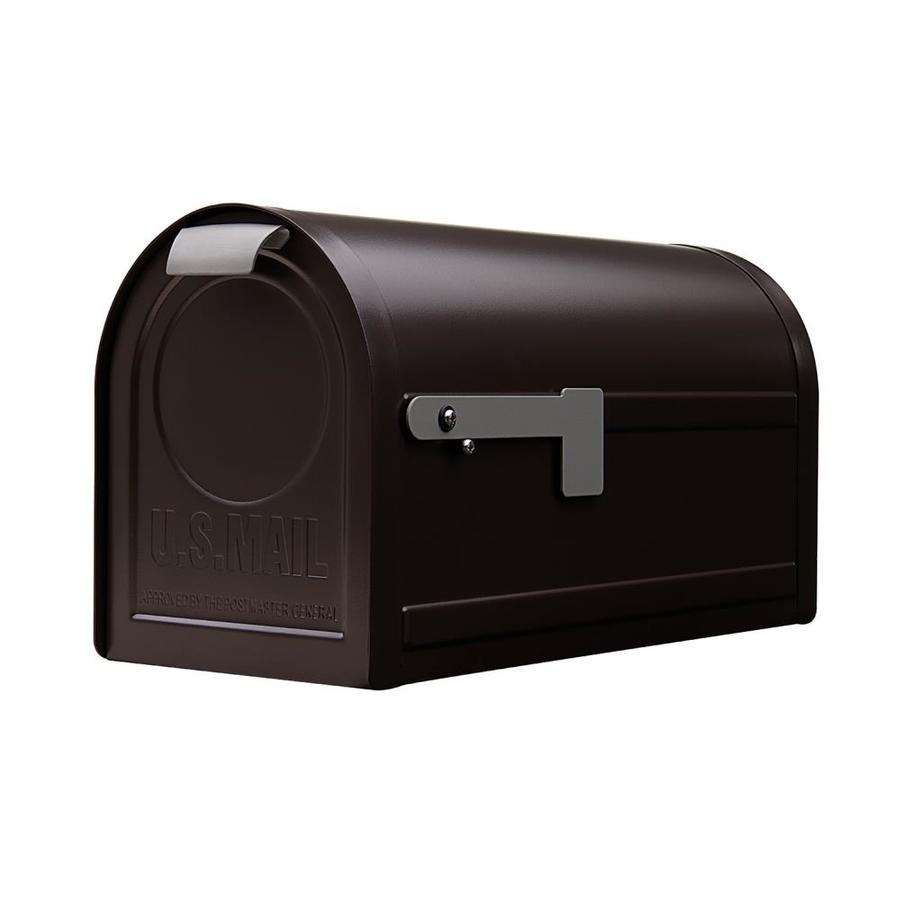 Gibraltar Mailbo Northpointe 6 9 In W X 11 3 H Metal Venetian Bronze Post Mount Mailbox