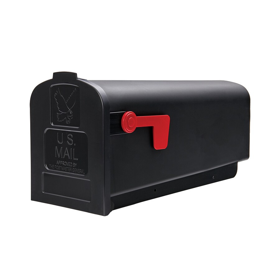 Gibraltar Industries Parsons 7.9-in x 9.6-in Plastic Black Post Mount Mailbox