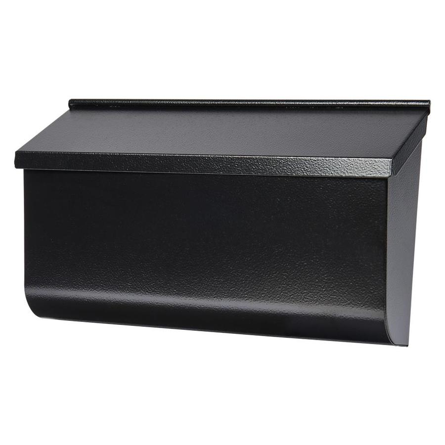 Shop Gibraltar Industries Woodlands 16.6-in x 9.8-in Metal Black Wall Mount Mailbox at Lowes.com