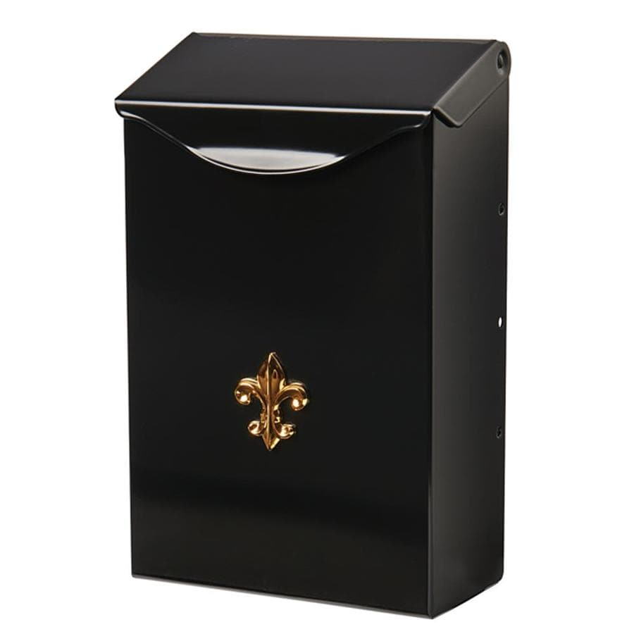 The Solar Group City Classic 6.3-in W x 9.8-in H Metal Black Wall Mount Mailbox