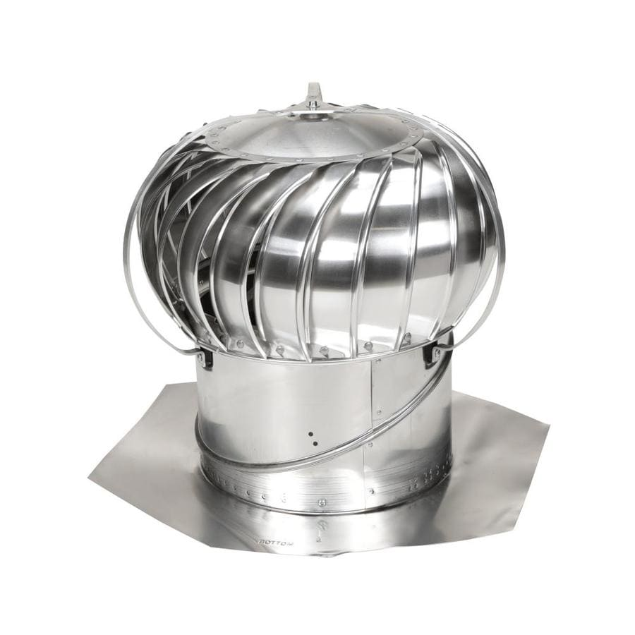 Is It Ok To Vent Bathroom Into Attic: Air Vent 12 Aluminum Externally Braced Roof Turbine Vent