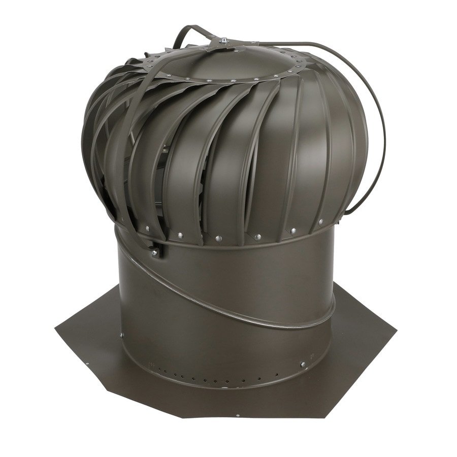 shop air vent 12-in aluminum externally braced roof turbine vent at