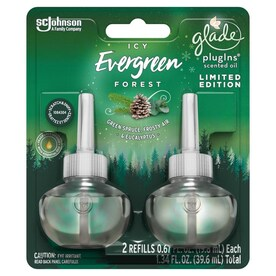 Glade 2-Pack Icy Evergreen Forest Plug-in Air Freshener