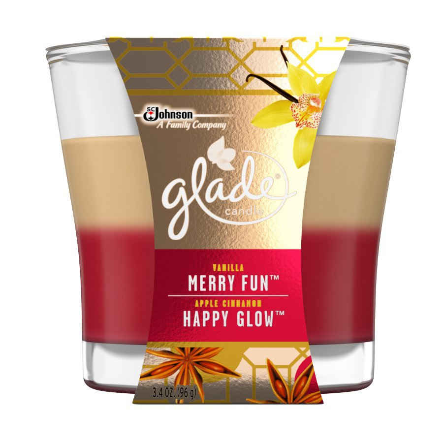 Glade 3.4-oz Apple Cinnamon and Vanilla 1-Wick Any Occasion Jar Candle