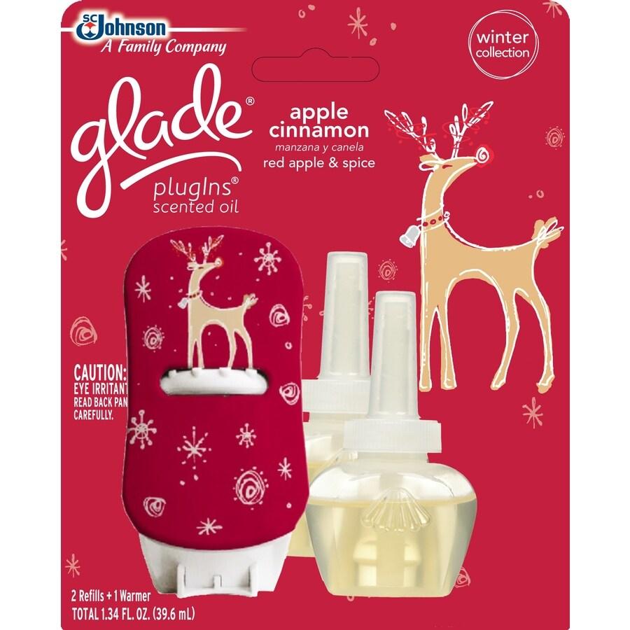 Glade 3-Pack Apple Cinnamon Plug-in Electric Air Freshener Kit