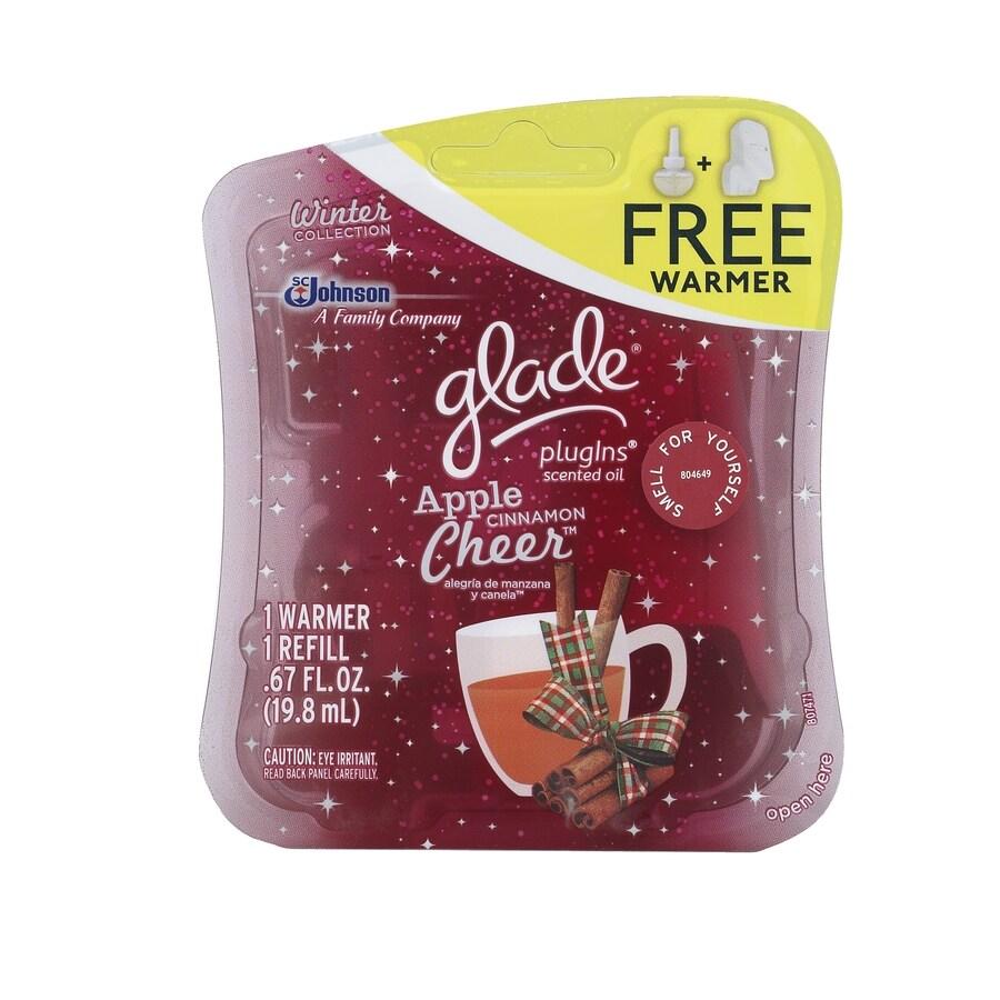 Glade 0.67-oz Apple Cinnamon Cheer Electric Air Freshener Kit