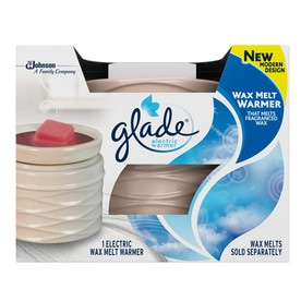glade wax melts plug in electric air freshener kit