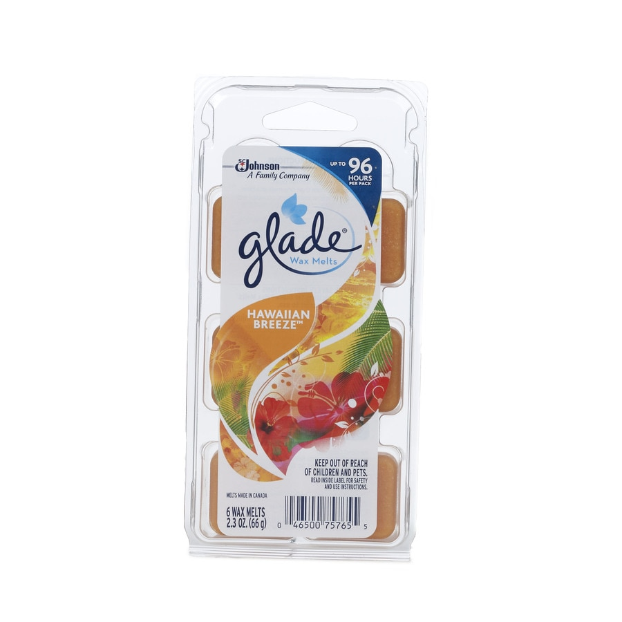 Glade Wax Melts 6-Pack Hawaiian Breeze Plug-in Electric Air Freshener Refill
