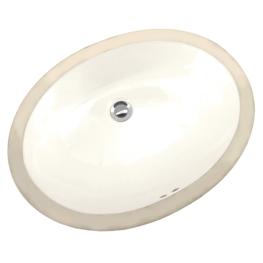 Mansfield Maple Biscuit Undermount Oval Bathroom Sink With Overflow Drain 16 In X 19 75 In In The Bathroom Sinks Department At Lowes Com