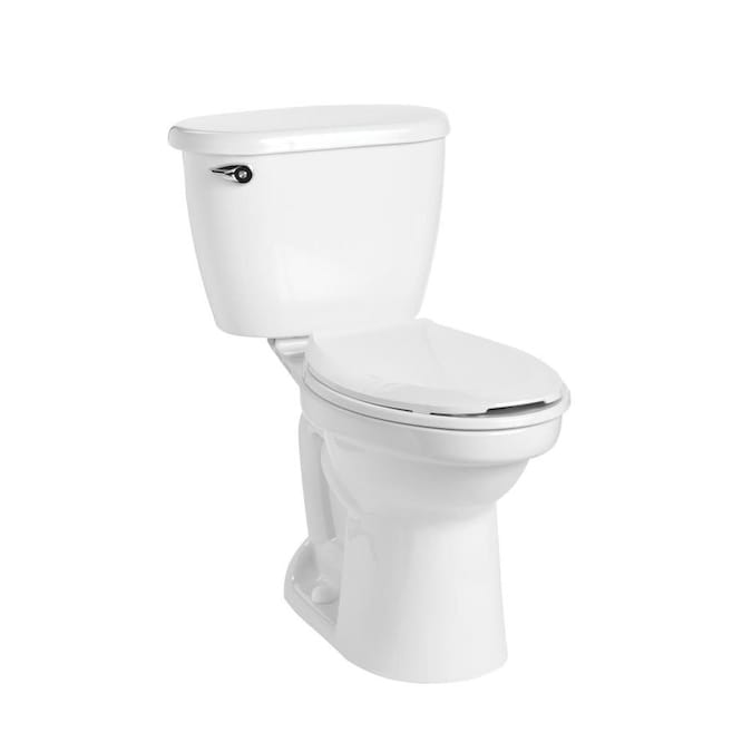 Mansfield Cascade White Watersense Elongated Comfort Height 2 Piece Toilet 12 In Rough In Size Ada Compliant In The Toilets Department At Lowes Com