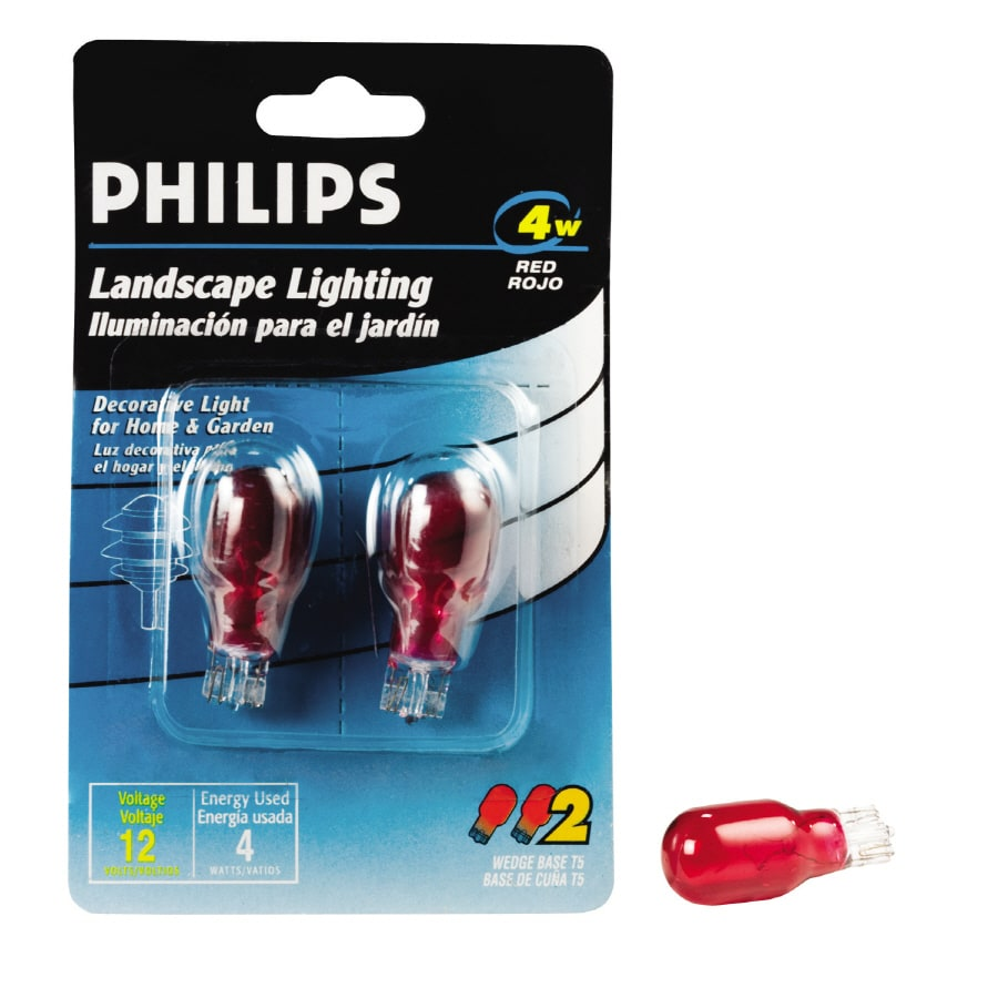 Shop philips 2 pack 4 watt base red outdoor incandescent light bulb philips 2 pack 4 watt base red outdoor incandescent light bulb workwithnaturefo