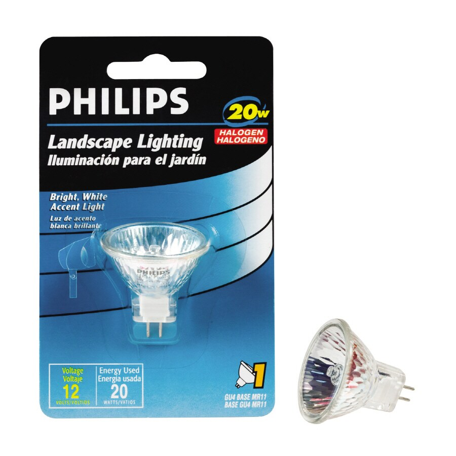 Philips 20 Watt Bright White Mr11 Halogen Light Fixture Light Bulb