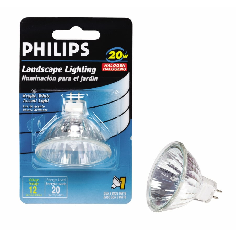 Philips 20 Watt Bright White Mr16 Halogen Light Fixture Light Bulb