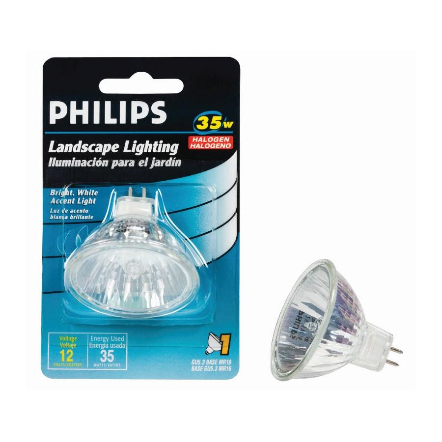 Philips 35 Watt Soft White Mr16 Halogen Light Fixture Light Bulb