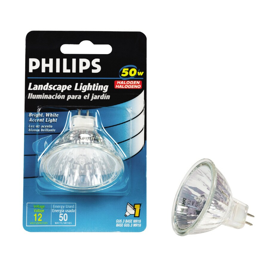 Shop philips 50 watt bright white mr16 halogen light fixture light bulb at Mr16 bulb