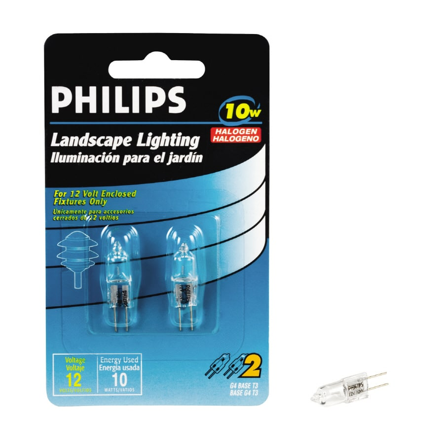 Philips 10 Bright White T3 Halogen Light Fixture Light Bulb