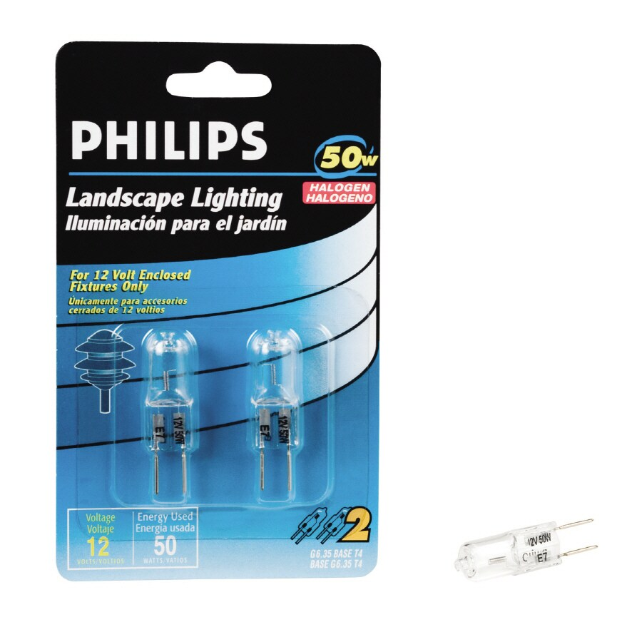 Philips 50 Watt Bright White T4 Halogen Light Fixture Light Bulb