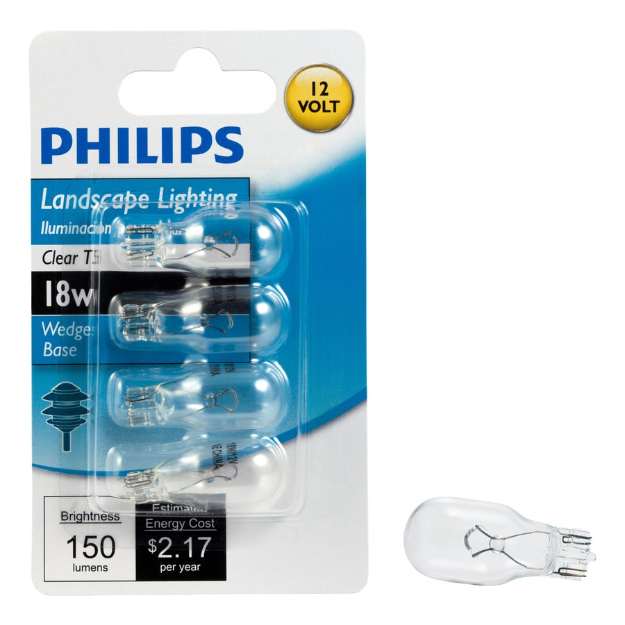 Philips 4-Pack 18 Watt Bright White T5 Halogen Light Fixture Light Bulb