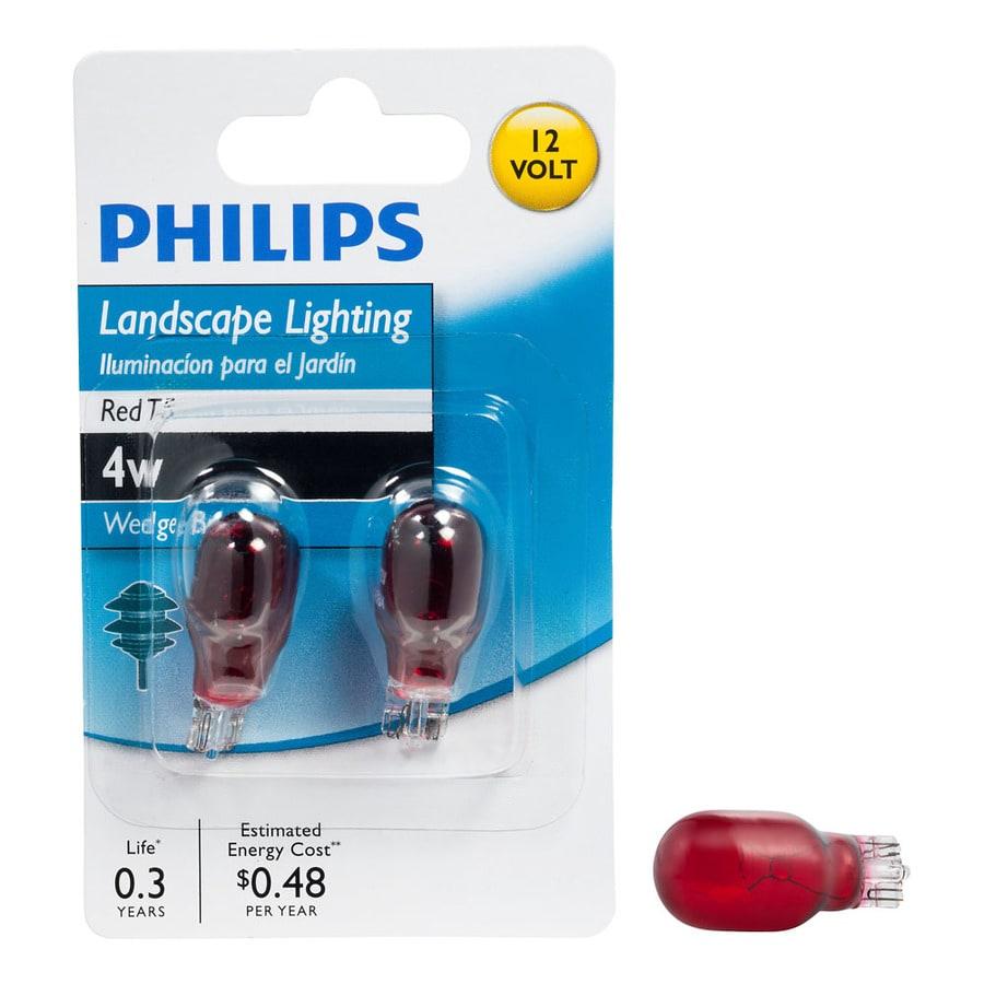 Philips 2-Pack 4 Watt Red T5 Halogen Light Fixture Light Bulb