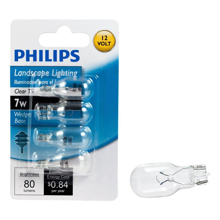 Philips 4-Pack 7 Watt Bright White T5 Halogen Light Fixture Light Bulb