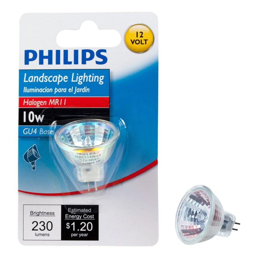 Philips 10 Watt Bright White Mr11 Halogen Light Fixture Light Bulb