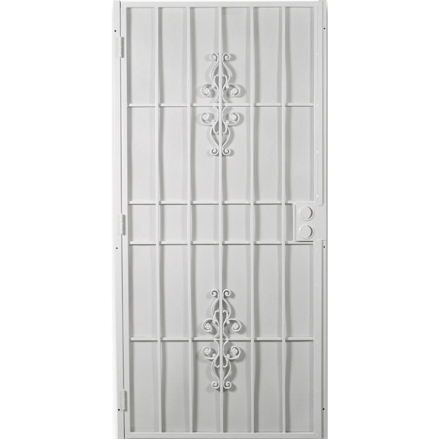 Shop Columbia Mfg Belvedere White Steel Security Door At Lowes