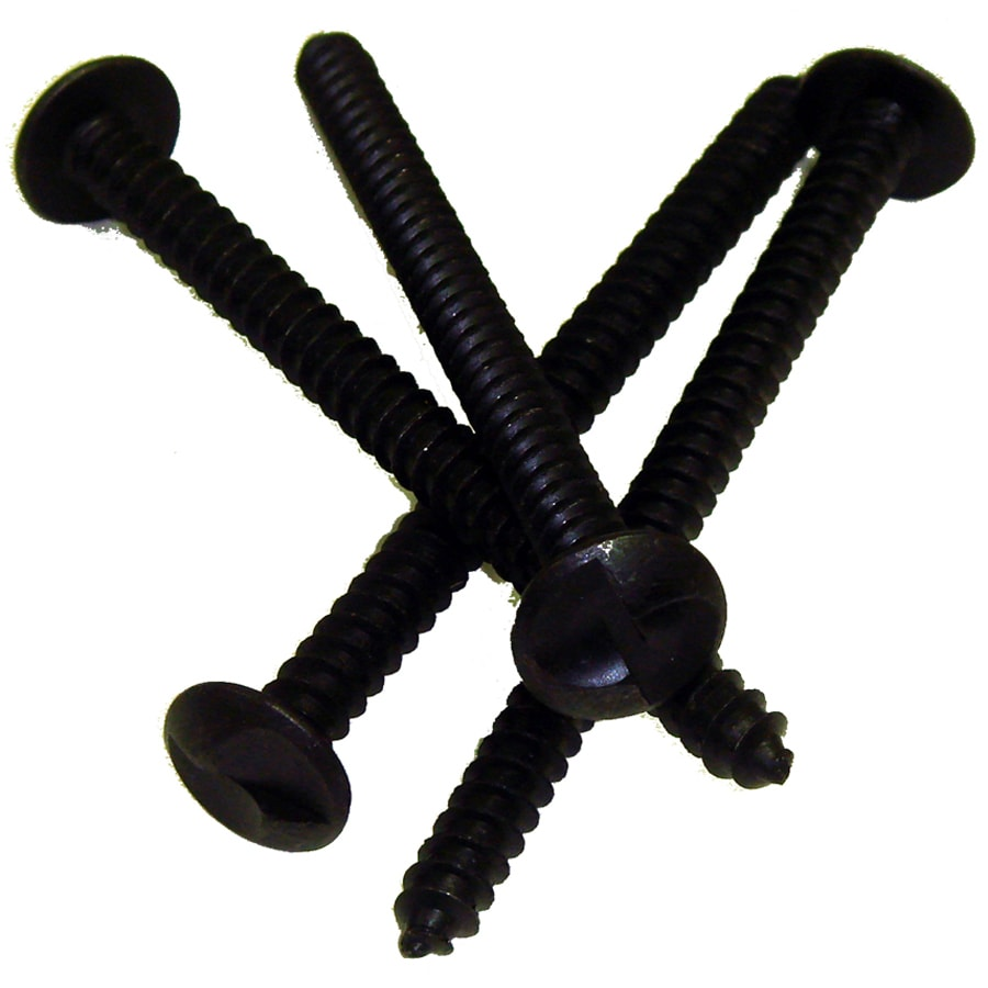 Gatehouse 4-in Black One Way Security Bar Screws