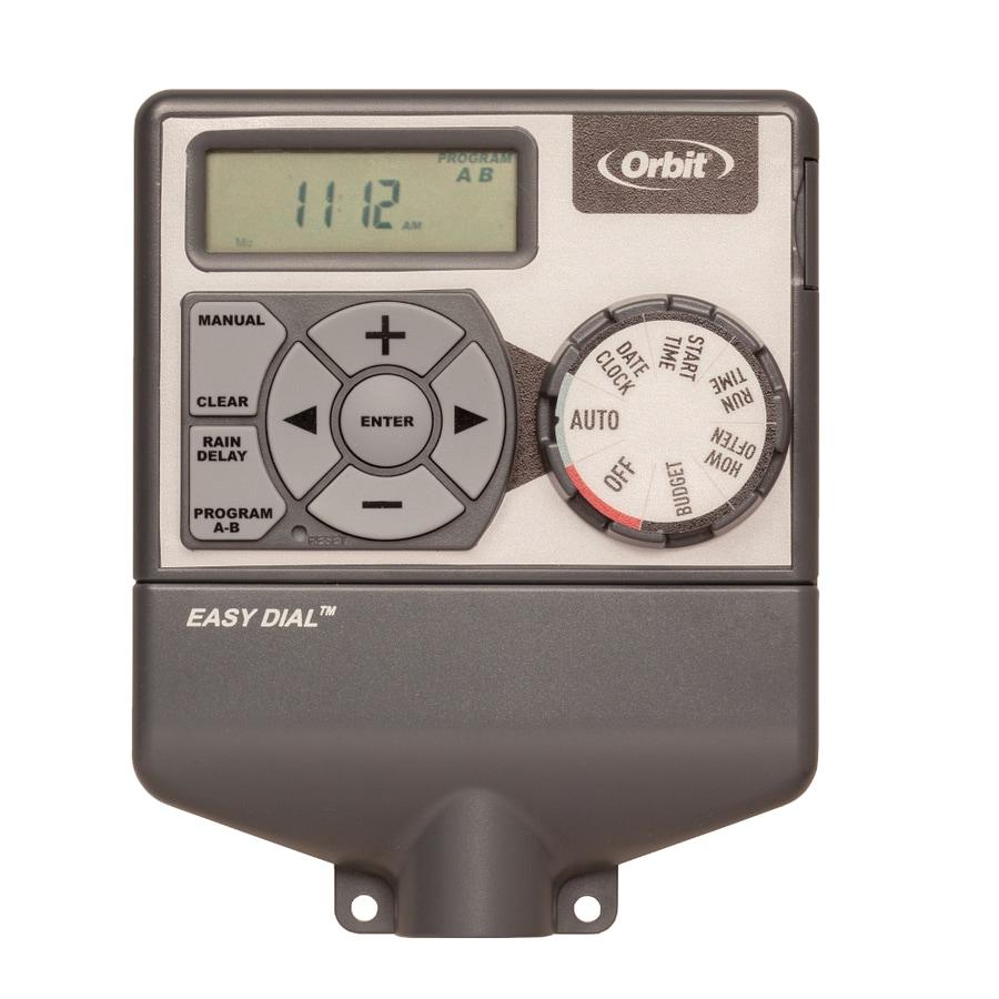 shop orbit 4 station indoor irrigation timer at lowes com rh lowes com Orbit Sprinkler Timer Manual 57894 Orbit Sprinkler Timer ManualDownload