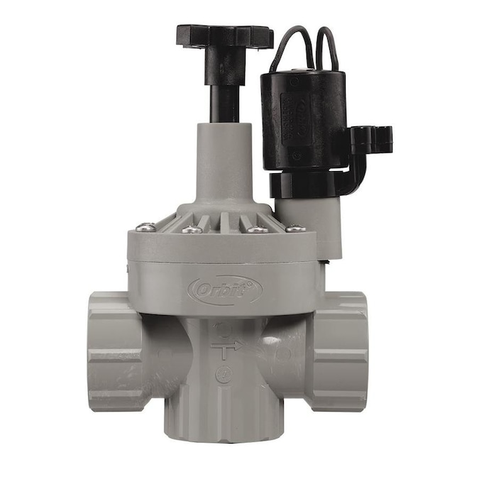 Orbit 1 In Plastic Electric Angle Irrigation Valve In The Underground Sprinkler Valves Department At Lowes Com