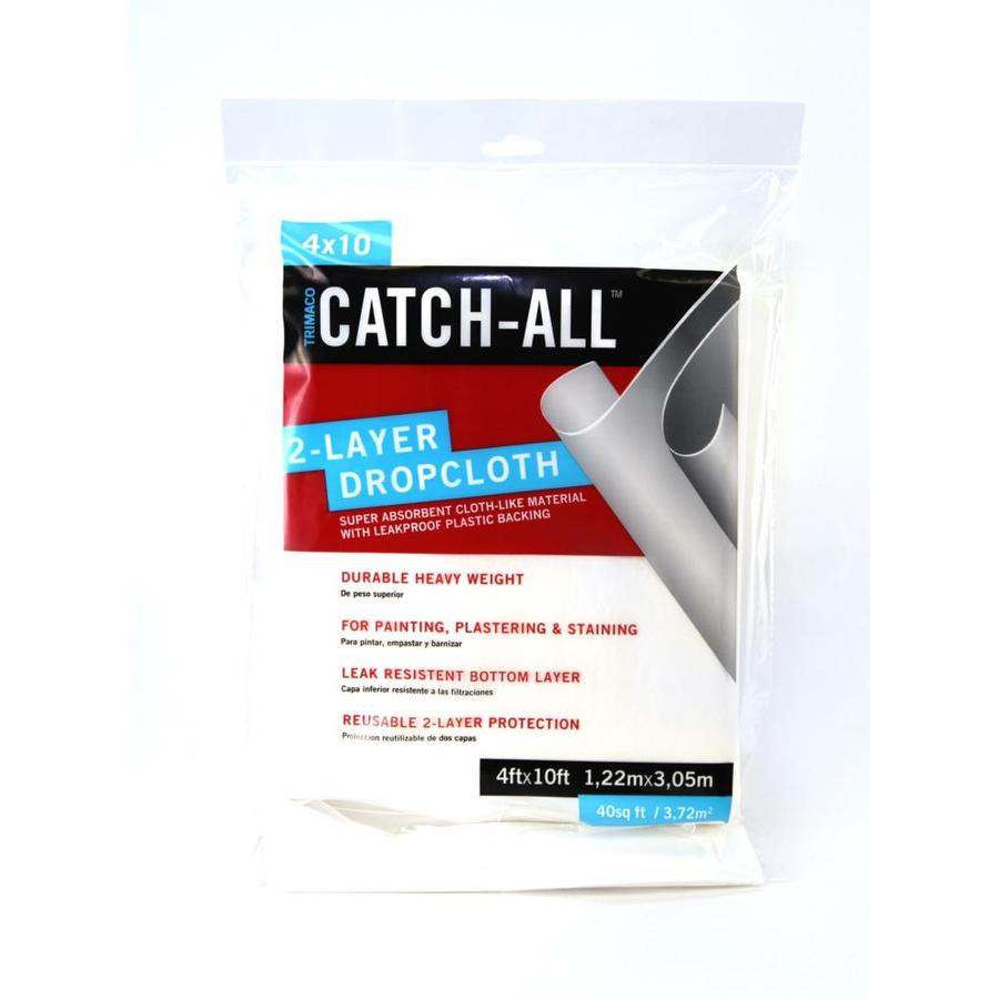 Blue Hawk Catch All Paper/Plastic Drop Cloth (Common: 4-ft x 10-ft; Actual 4-ft x 10-ft)