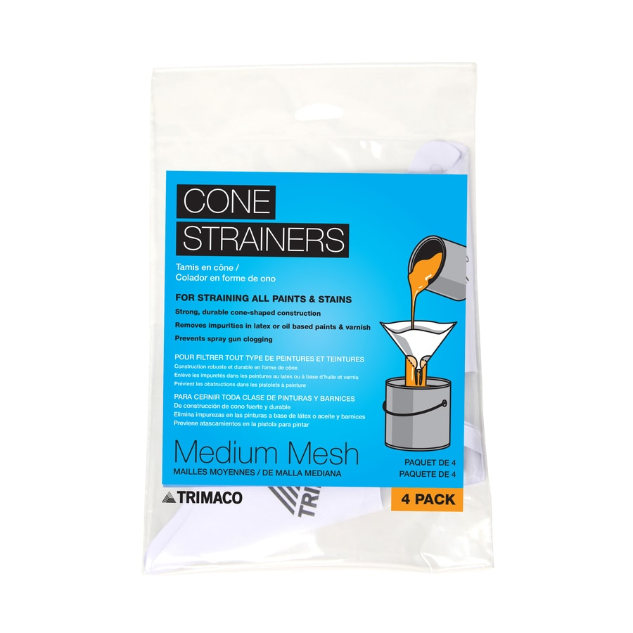 Blue Hawk 4-Pack Plastic Cone Paint Strainers (Fits Container Size: 1-Quart)
