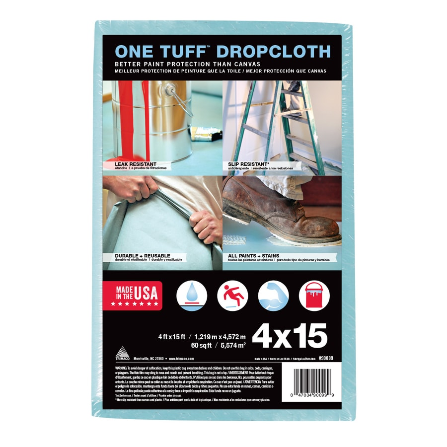 Trimaco One Tuff Drop Cloth (Common: 4-ft x 15-ft; Actual 4-ft x 15-ft)