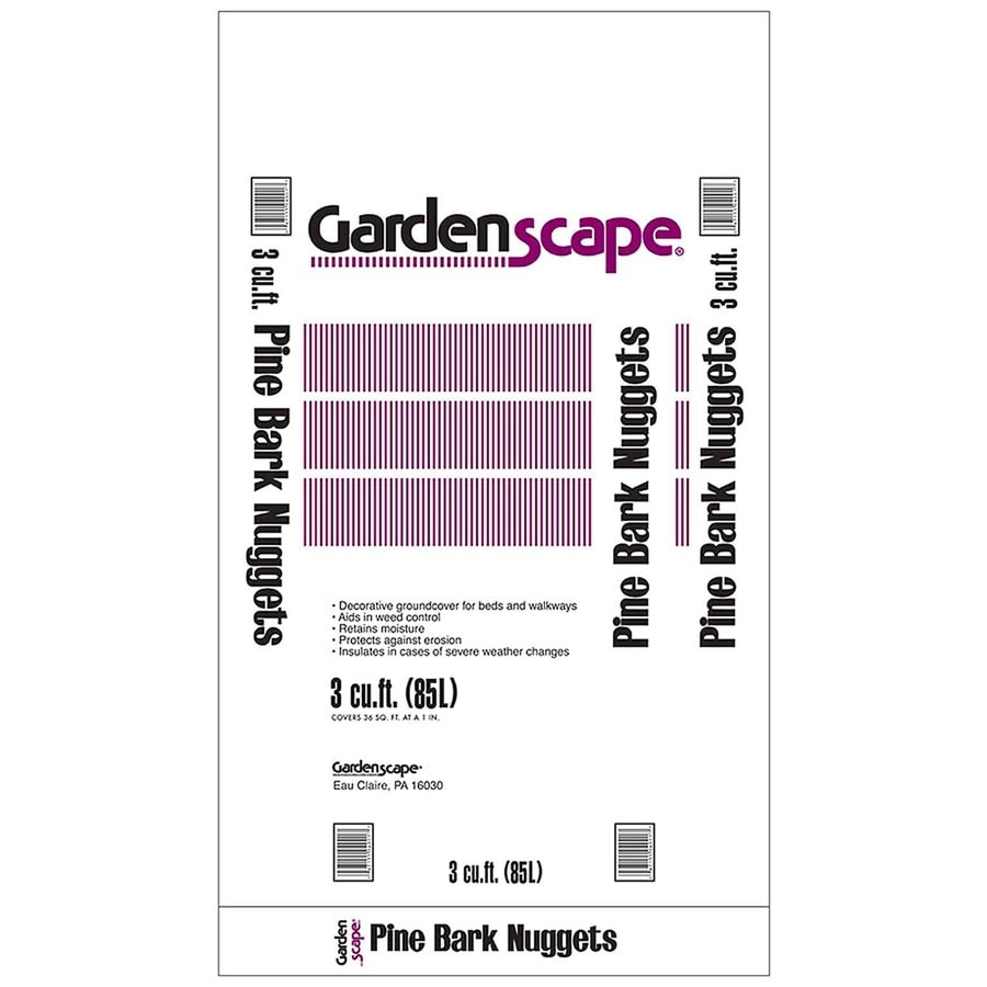 Gardenscape 3-cu ft Dark Brown Nuggets Pine Bark Mulch