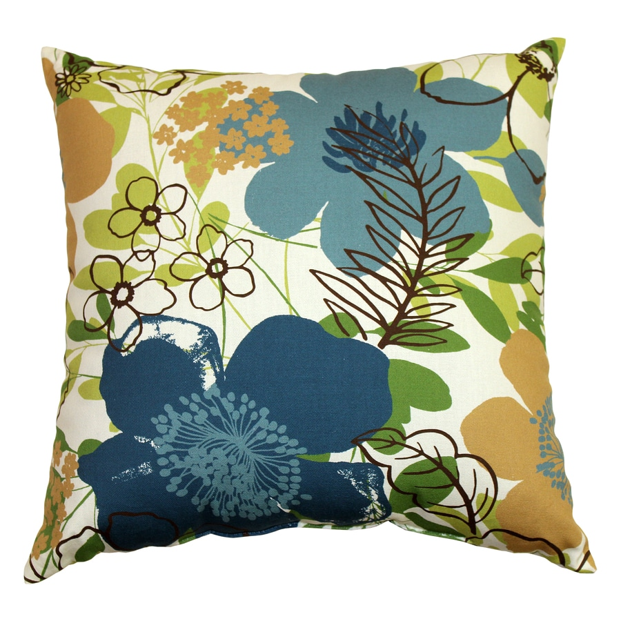 Garden Treasures Eldson Green UV-Protected Outdoor Accent Pillow