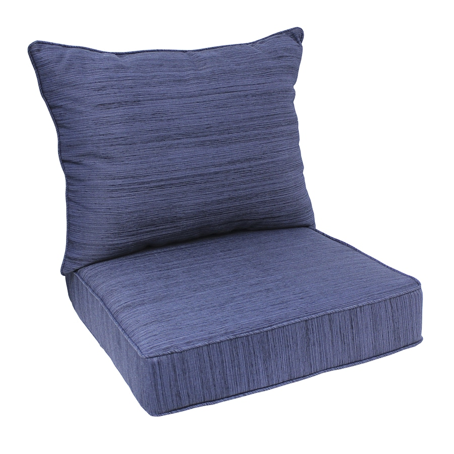 allen roth 1 piece navy deep seat patio chair cushion at lowes com