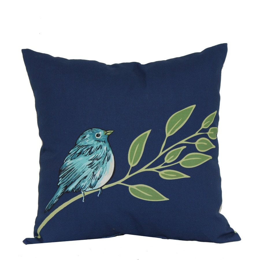 Garden Treasures 16 In X Blue Bird Outdoor Decorative Pillow